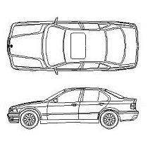 Blocco Cad di BMW 320i in dwg