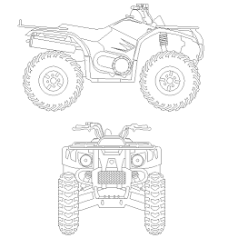 Blocco Cad di 4 wheeler – Quad in dwg