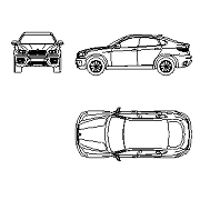 Blocco Cad di BMW X6 in dwg