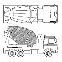 Blocco Cad di Betoniera – Concrete mixer in dwg