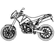 Blocco Cad di KTM moto in dwg