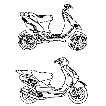 Blocco Cad di Scooters in dwg
