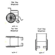 Blocco Cad di Carrozzina – Wheelchair in dwg
