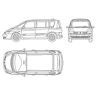 Blocco Cad di Renault Espace in dwg