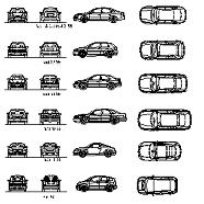 Blocco Cad di Audi – automobili varie in dwg