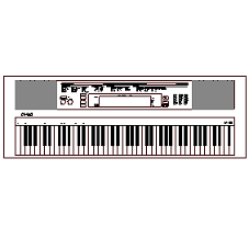 Blocco Cad di Tastiera, Electronic Keyboard in dwg