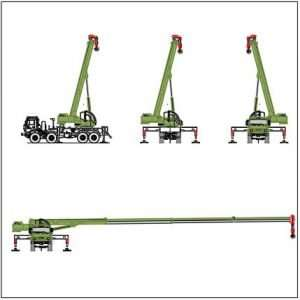 Blocco Cad di Camion Gru cantiere edile dwg in dwg