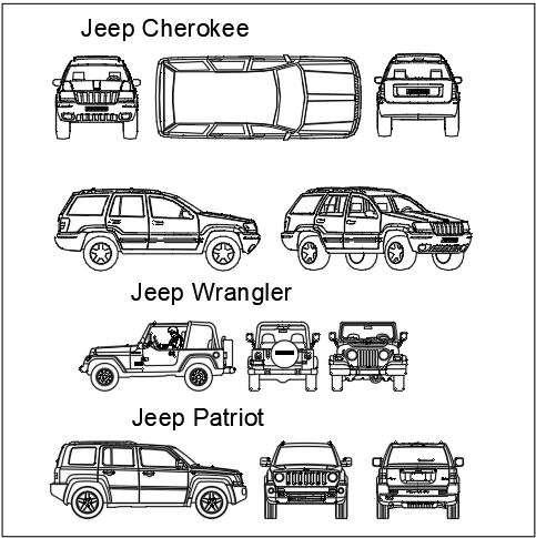 Jeep wrangler dwg